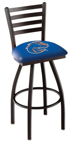 Boise State Broncos Swivel Bar Stool with Ladder Back