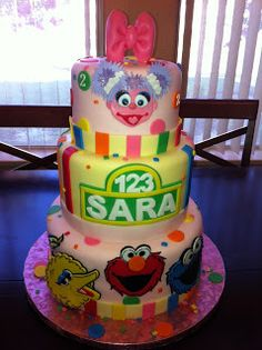 Sesame Street Cake With Elmo And Abby Cadabby Yelp Baking For - Elmo and abby birthday cake