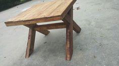 Pallet outside table
