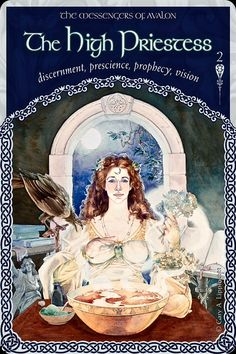 """Daily Angel Oracle Card: The High Priestess Of Avalon, from the Wisdom Of Avalon Oracle Card deck, by Colette Baron-Reid The Messengers Of Avalon ~ The High Priestess Of Avalon: """"Discernment ~ Pres..."""