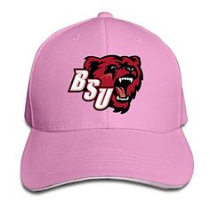 728941f854694 HIITOOP Bridgewater State Bears Baseball Cap Hip-Hop Style Pink at Amazon  Men s Clothing store