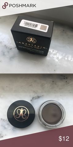 ABH Dipbrow Pomade Medium Brown Anastasia Beverly Hills Dipbrow Pomade Brand New in Box! Medium Brown Anastasia Beverly Hills Makeup Eyebrow Filler