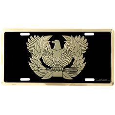Army Warrant Officer License Plate: This Army Warrant Officer License Plate is made from aluminum and the design is embossed and has a baked on enamel finish. License Plate Covers, License Plates, Warrant Officer, High Gloss, Army, Military, Usa Gold, Helpful Tips, Frames