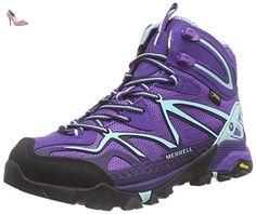 Merrell  CAPRA MID SPORT GTX, Bottines de randonnée femmes - Violet - Violett (ROYAL LILAC/ADVENTURINE), Taille 38 EU - Chaussures merrell (*Partner-Link)