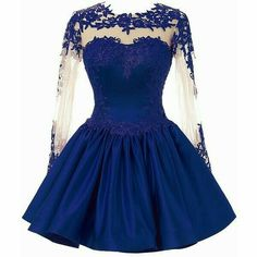 CuteShe Women's Short Lace Homecoming Prom Dresses with Long Sleeves and other apparel, accessories and trends. Browse and shop 15 related looks. Long Sleeve Homecoming Dresses, Prom Dresses Blue, Pretty Dresses, Semi Dresses, Ladies Dresses, Pink Dress, Short Lace Dress, Dress Long, Cocktail Dress Prom