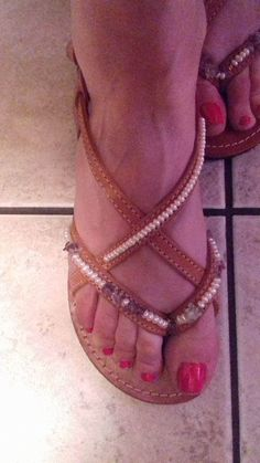 HANDMADE LEATHER SANDALS by artstella on Etsy
