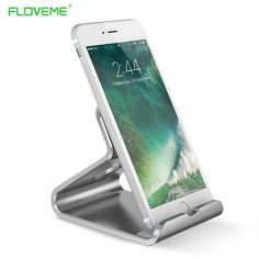 FLOVEME Mobile Phone Stand Holder For iPhone 6 7 6S Plus 5S SE Desktop Alloy Metal Tablet PC Holder For iPad 5 For Huawei Mate 9