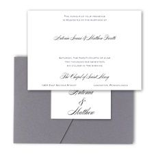 Simple Elegance - Pocket Invitation