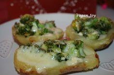 vegan joy: Potatoes stuffed with broccoli