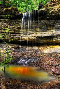 'Dockery Gap Falls - Ozark National Forest - Arkansas' by Scott Ward Arkansas Waterfalls, Places To Travel, Places To See, Arkansas Vacations, Ozark National Forest, Beautiful Waterfalls, Land Scape, The Great Outdoors, Trip Planning