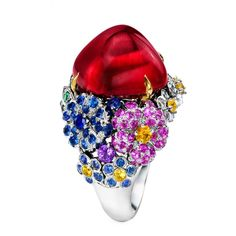 """Anna Hu Jewelry  The perfect summer cocktail ring! - """"Paradise Blossom Ring"""""""