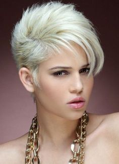 Pixie Short Asymmetrical Hairstyles 2017 with Styled Bangs