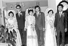 1973: Triple wedding for three brothers at the Mandarin Hotel.