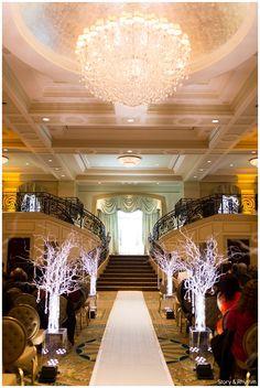 Ceremony decor with trees with lights | Prestonwood Country Club wedding photographers | LGBT wedding photographers in North Carolina | Equal love weddings | www.storyandrhythm.com