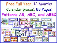 6 Best Images of Printable Preschool Calendar Pieces - Free Printable Calendar Numbers, Free Printable Preschool Calendar Template and Free Calendar Printables Pieces Preschool Calendar, Teaching Calendar, Calendar Activities, Classroom Calendar, Preschool Classroom, Kindergarten Math, Preschool Activities, Kindergarten Calendar, Calendar Skills