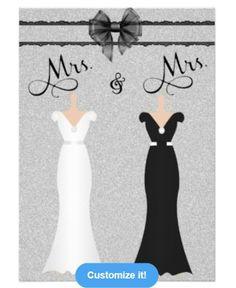 Gay/Lesbian Wedding Invitation at: http://www.zazzle.com/elegant_lesbian_gay_two_brides_wedding_invitation-161036673329731688