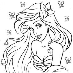 Ariel A Pequena Sereia The Little Mermaid Coloring Pages