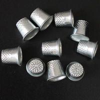10pcs Finger Thimbles Metal Shield Grip Protector Pin Needle Shield Finger…