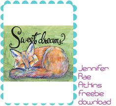 sweet dreams fox downloadable art