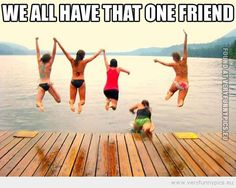 We all have that one friend. And that friend is me Lol Memes, Stupid Funny Memes, Funny Stuff, Funny Things, Funniest Memes, Random Stuff, Boy And Girl Best Friends, Best Friends For Life, That One Friend
