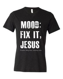 We are super excited about our NEW release and the meaning behind it! I mean, there are always those days when we really need to have Jesus FIX IT! For some of us more often than others :)  Psalms 55:22   This version of this tee is printed on a super high quality triblend tee and now with a new and improved print. These are made to last longer and are super high quality! So exciting!  These are a unisex fit, which means they are true to size.  If you are wanting more a slimmer fit then we…