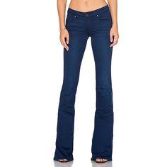 Paige Denim Lou Lou Flare Denim ($219) ❤ liked on Polyvore featuring jeans, denim jeans, blue jeans, paige denim, paige denim jeans and flare denim jeans
