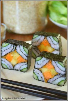 Veganske sushi kreacije – Mozaik (po korakih)   MayJer Tales