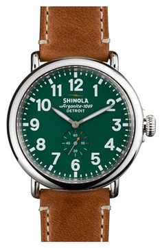 516e04d06eb Shinola  The Runwell  Leather Strap Watch