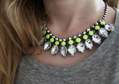 This necklace is so pretty, love the green accent