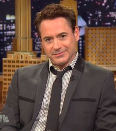"""Robert Downey Jr. on """"The Tonight Show with Jimmy Fallon"""" promoting """"The Judge"""" (Oct. 2014)"""