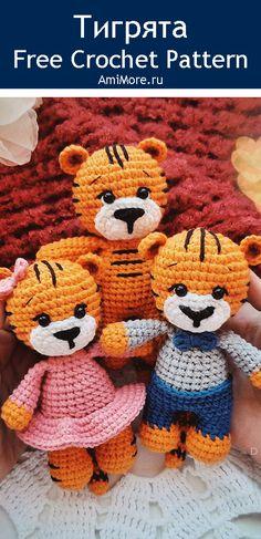PDF Тигрята крючком. FREE crochet pattern; Аmigurumi animal patterns. Амигуруми схемы и описания на русском. Вязаные игрушки и поделки своими руками #amimore - тигр, маленький тигренок, котик, кот, кошечка, кошка, котенок, tiger, tygrys, tigre, tiikeri, tygr, cat, kitten, gato, gatito, gatinho, chat, minou, kitty, kätzchen. Amigurumi doll pattern free; amigurumi patterns; amigurumi crochet; amigurumi crochet patterns; amigurumi patterns free; amigurumi today.