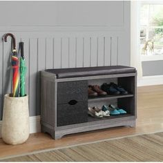 Narrow Shoe Storage Bench | Wayfair