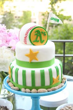 Oakland A's Baseball Cake   Jaycob Brugman Draft Party   They Call Me Smudge