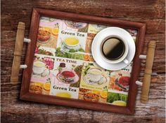 Tolle Bastelanleitungen im Herbst gibt es auf unserer Website! Tea Time, Tableware, Frame, Green, Home Decor, Wooden Crates, Craft Tutorials, Decorating, Handarbeit