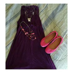 Purple Sleeveless Mini Dress Purple Sleeveless Mini Dress  This dress has a lace backing. In great condition. Worn by my daughter a handful of times edge Dresses Mini