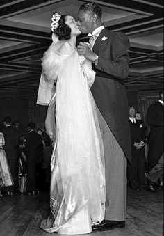 Beautiful picture of Nat King Cole and Maria Cole on their wedding day in Celebrity Wedding Photos, Celebrity Wedding Dresses, Vintage Wedding Photos, Celebrity Weddings, Vintage Weddings, Black Weddings, Vintage Photos, Maria Cole, Nat King
