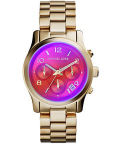 Michael Kors Women's Chronograph Runway Gold-Tone Stainless Steel Bracelet Watch 38mm MK5939 - Watches - Jewelry & Watches - Macy's