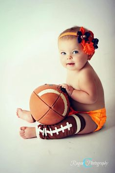 Cutest football fan ever! Our football leg warmers are only $3.99......would like to do something like this for Father's Day except hunting!