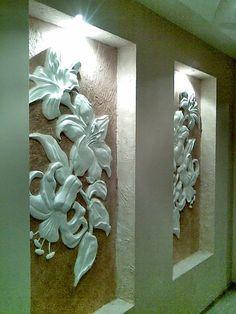 """барельеф """"лилии"""" - Скульптура и лепка - Лепные панно и барельефы"""