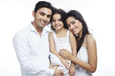 Portrait of a girl with her parents smiling Good Things, India, Stock Photos, Portrait, Parents, Calligraphy, Image, Fashion, Penmanship
