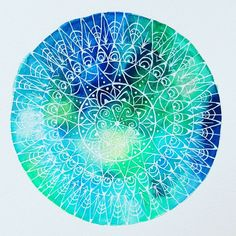 However you intend to beat the blues this winter, finding some time for creativity and meditation is a step in the right direction. Bullet Journal Junkies, Bullet Journal Inspiration, Watercolor Mandala, Watercolor Paper, Mandala Rocks, Mandala Art, Crochet Mandala, Art For Art Sake, Cool Paintings