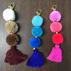 Items similar to Luisa Tassle Keychain Large Pom Pom Tassel Keychain Tassel Zipper Pull BOHO Chic Bag Charm Beach Bag Summer Festival Unique Gifts For Her on Etsy Baby Bunting, Diy Tassel, Tassels, Pom Pom Purse, Pom Pom Crafts, Tassel Keychain, Craft Stick Crafts, Craft Ideas, Arts And Crafts