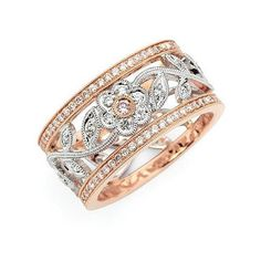 [Rings] Rose gold, white gold, gorgeous white diamonds, and a pink diamond at the center of the flower! By Simon G Designs I Love Jewelry, Fine Jewelry, Jewelry Design, Unique Jewelry, Jewelry Box, Perfume, Right Hand Rings, Looks Chic, Love Ring