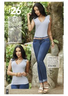 Gianni Garetti / Campaña 15 / 2017 Trouser Outfits, Casual Outfits, Jeans, Virginia, Capri Pants, Trousers, Mary, Street Style, Denim