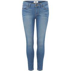 Paige Denim Verdugo Crop Mid Rise Ultra Skinny Jean - Halstead ($130) ❤ liked on Polyvore