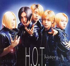 "H.O.T. (Hangul: 에쵸티) was a popular five-member South Korean boy band. They were formed by SM Entertainment in 1996 and disbanded in 2001. Often credited as one of the first k-pop boy bands and the forerunners of the ""idol group"" trend in the Korean music industry. Members:      Hee Jun,      Woo Hyuk,      Tony An,      Kangta,      Jae Won,"