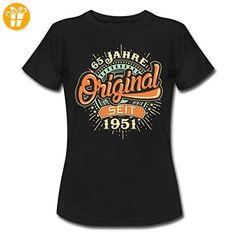 Geburtstag 65 Original 1951 RAHMENLOS® Frauen T-Shirt von Spreadshirt®, XXL, Schwarz - Shirts zum geburtstag (*Partner-Link)