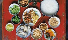 The right way to do congee (rice porridge)...an array of garnishes can be added to flavour congee. #savory #food