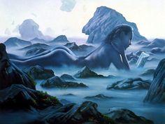 Quando me disseram que eu não iria aguentar a tempestade não sabiam que diante das tempestades eu sou um Tsunami.  Miry Art by Jim Warren