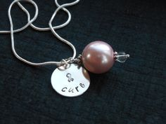 Cure Survive or Fight  hand stamped personalized by The Hand Stamped Heart, $24.00